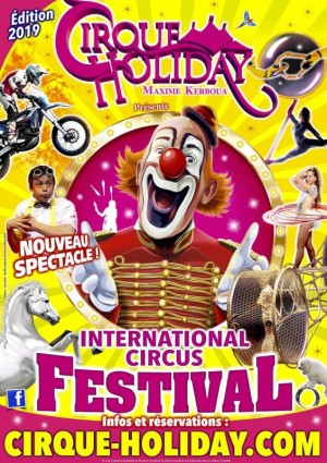 Affiche cirque holiday, la magie du cirque